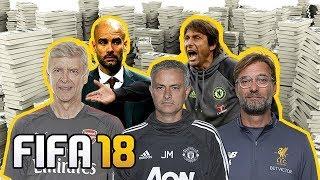 FIFA 18 - VAZOU O DINHEIRO DOS TIMES DA PREMIER LEAGUE PARA O MODO CARREIRA!!!