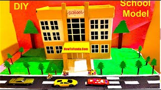 My SCHOOL MODEL Making for  School science exhibition project for kids | science fair model
