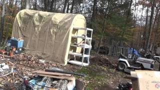 Clearing Ground Outside The Tiny House For A Battery & Water Shed
