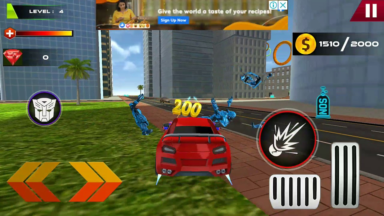 Download Car robot gaming by noob player