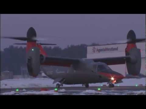 民間向け ティルトローター機 AW609 - YouTube
