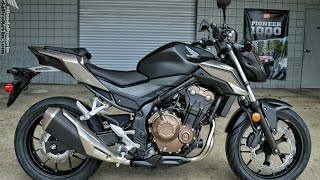 2016 Honda CB500F Naked Sport Bike | Motorcycle Walk-Around Video (500cc) | Matte Black Metallic(2016 CB500F Review / Specs / Horsepower & Torque Performance Numbers / MPG / Prices etc at http://www.HondaProKevin.com., 2016-04-08T18:47:19.000Z)