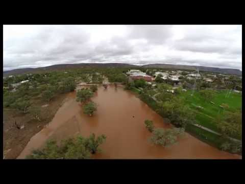 Boat in Todd River Alice Springs
