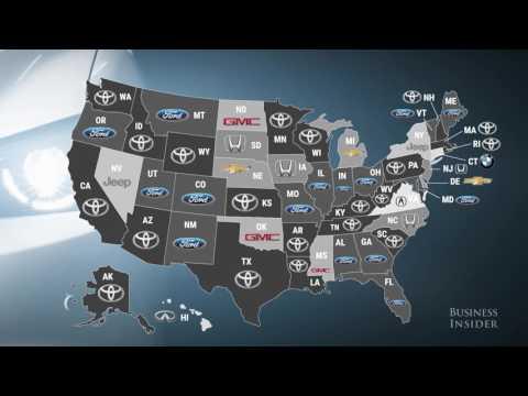 Popular car dealership brands in every state
