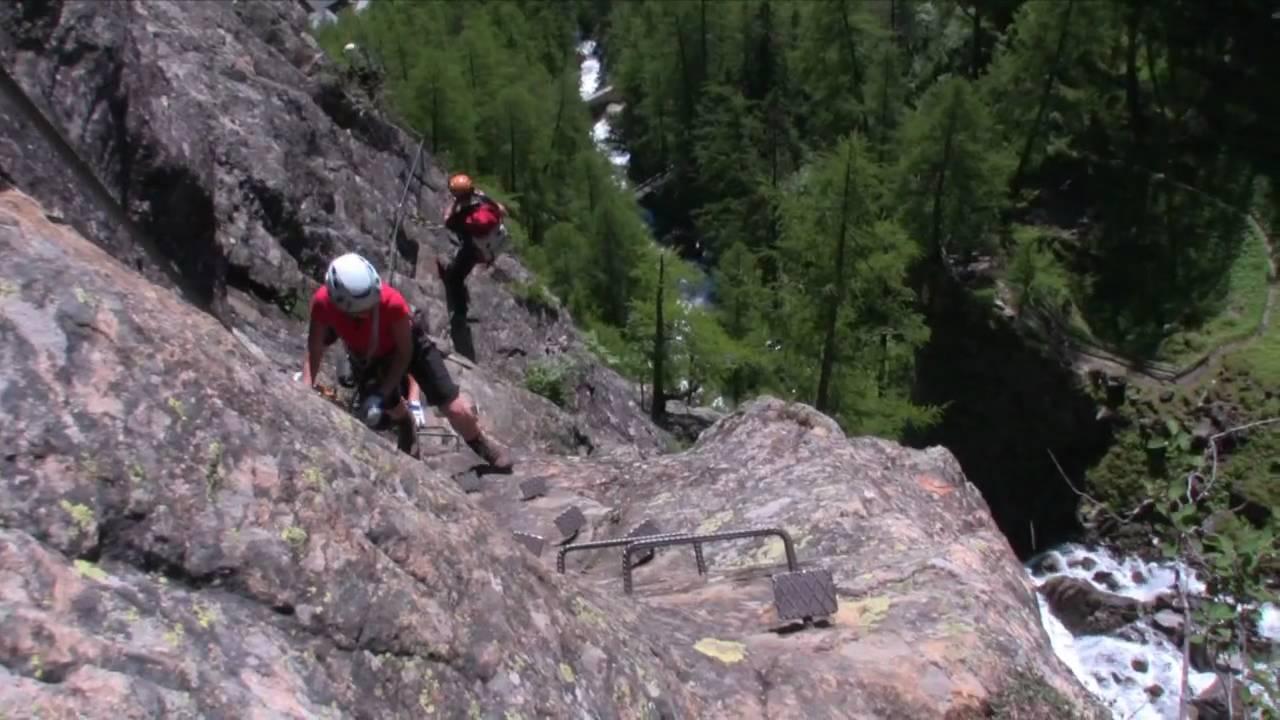 Klettersteig Fall : Klettersteig lehner fall im Ötztal youtube
