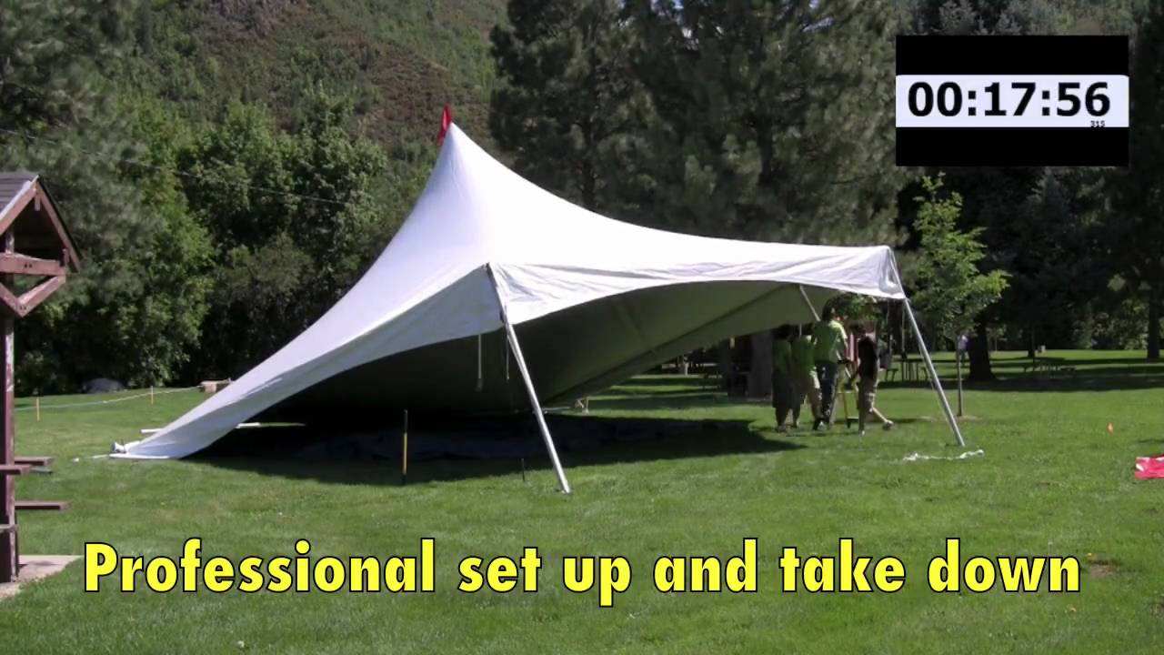 & Fast Motion Hexagon Tent Set Up - YouTube