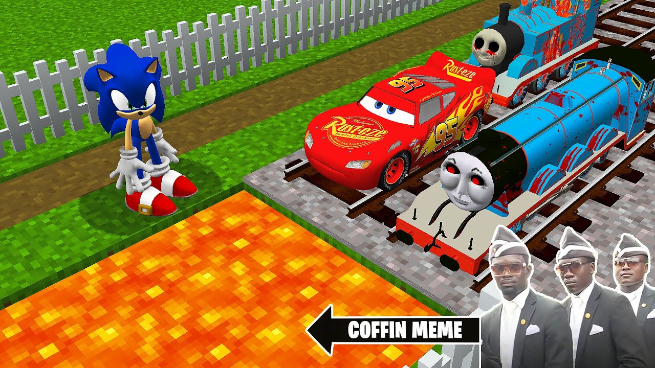 Download TRAPS for THOMAS THE TANK ENGINE.EXE & FRIENDS and LIGHTNING MCQUEEN in Minecraft - Coffin Meme