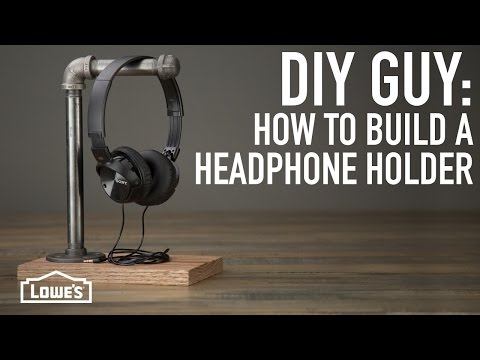 DIY Guy: How To Make A Headphone Holder