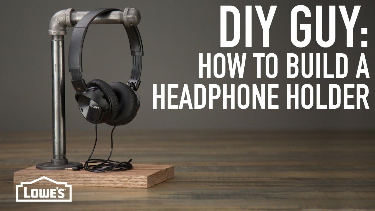 DIY Guy: How To Make A Headphone Holder - YouTube