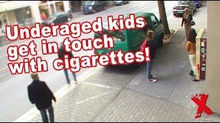 Persons under age get cigarettes! Minderjährige bekommen Zigaretten! (Social Experiment)