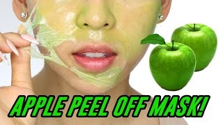 Apple Peel Off Mask! TINA TRIES IT