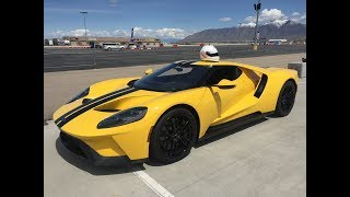 Onboard Ford GT at Utah Motorsport Campus Tracktest Hot Lap by Dirk Müller 2017