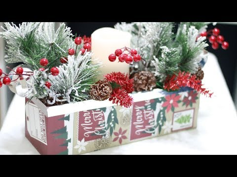 DIY Dollar Tree Rustic Christmas Centerpiece