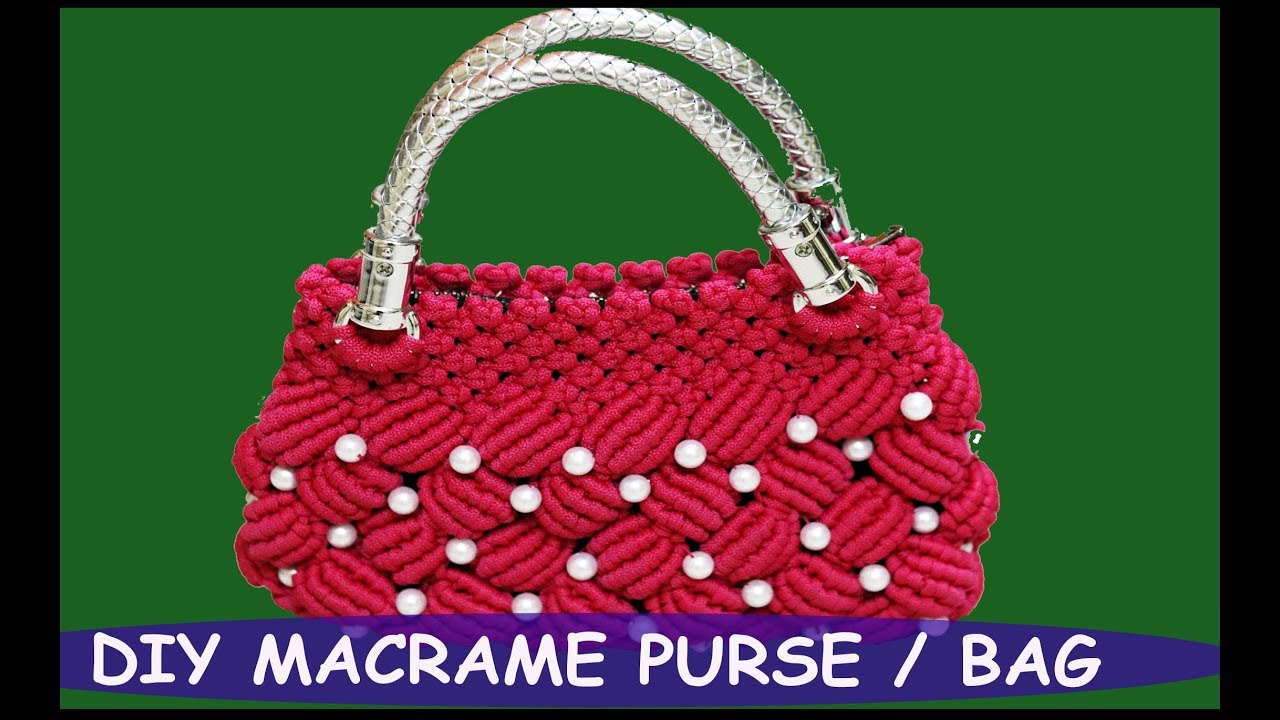 Diy Macrame Purse Hand Bag Easy