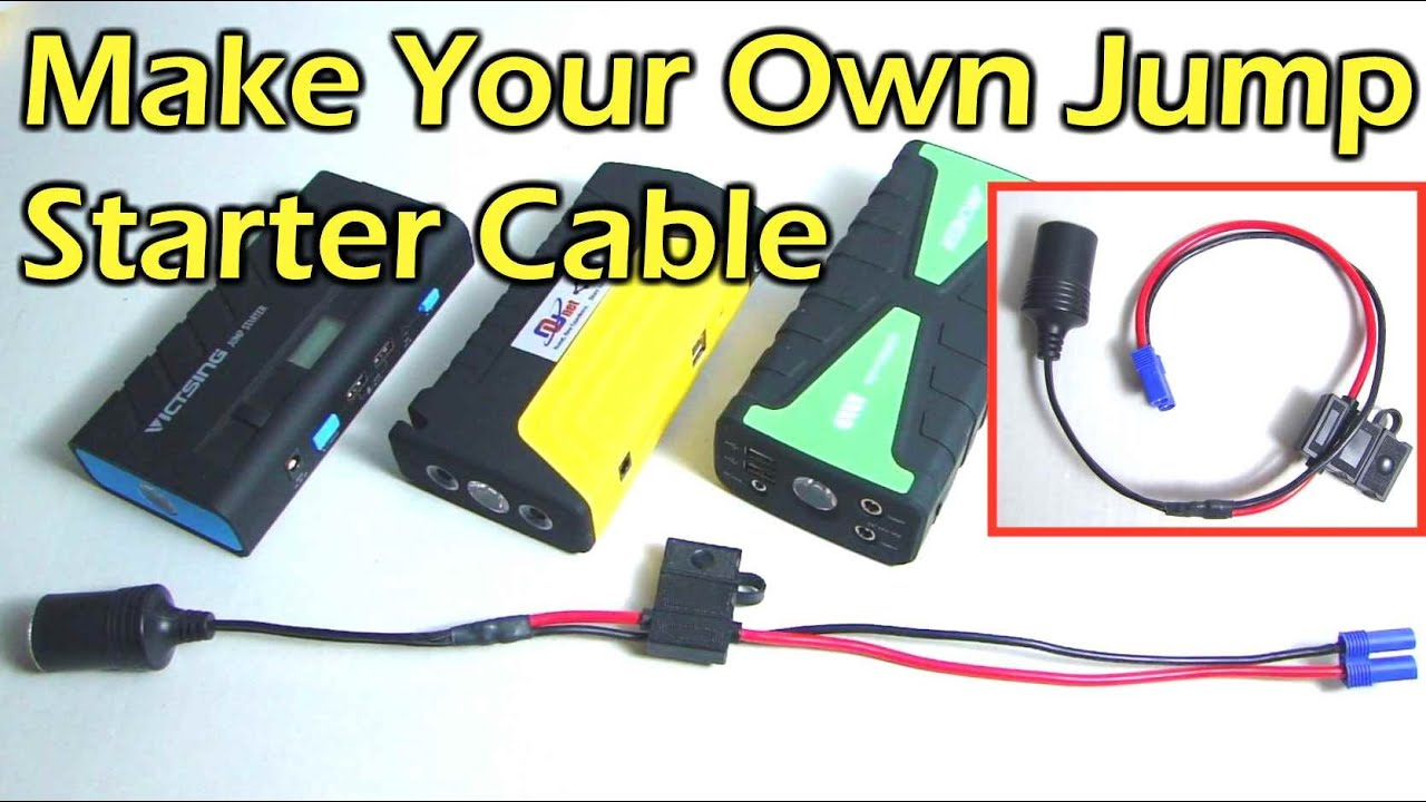 how to make a portable jump starter adapter cable [ 1280 x 720 Pixel ]