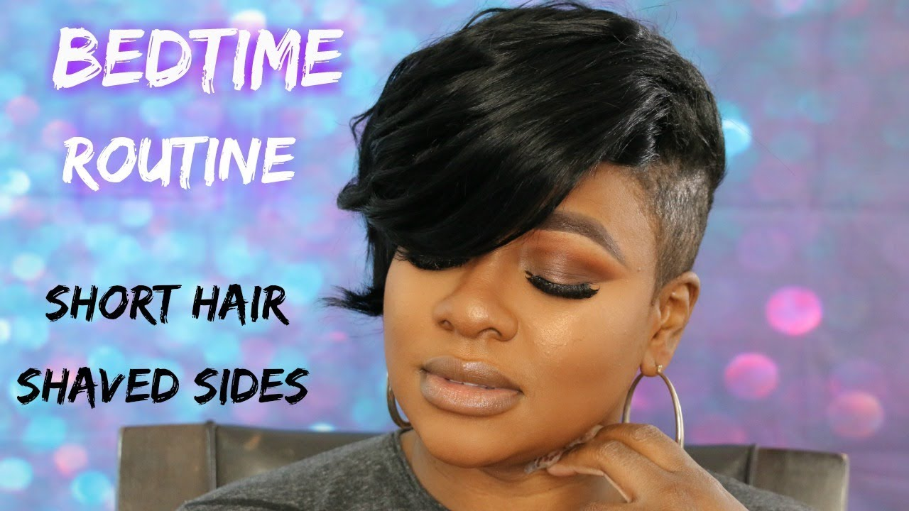 Short Hair Shaved Sides Night Routine Youtube