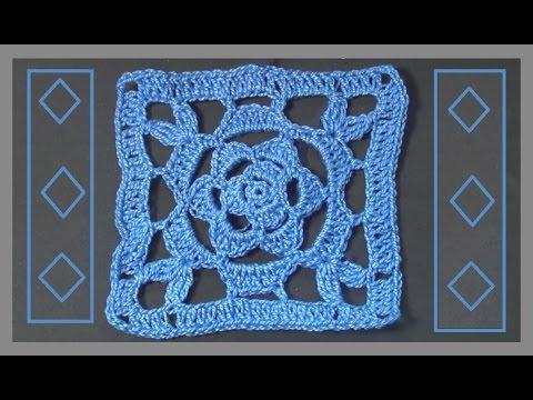 Crochet granny squares curtain