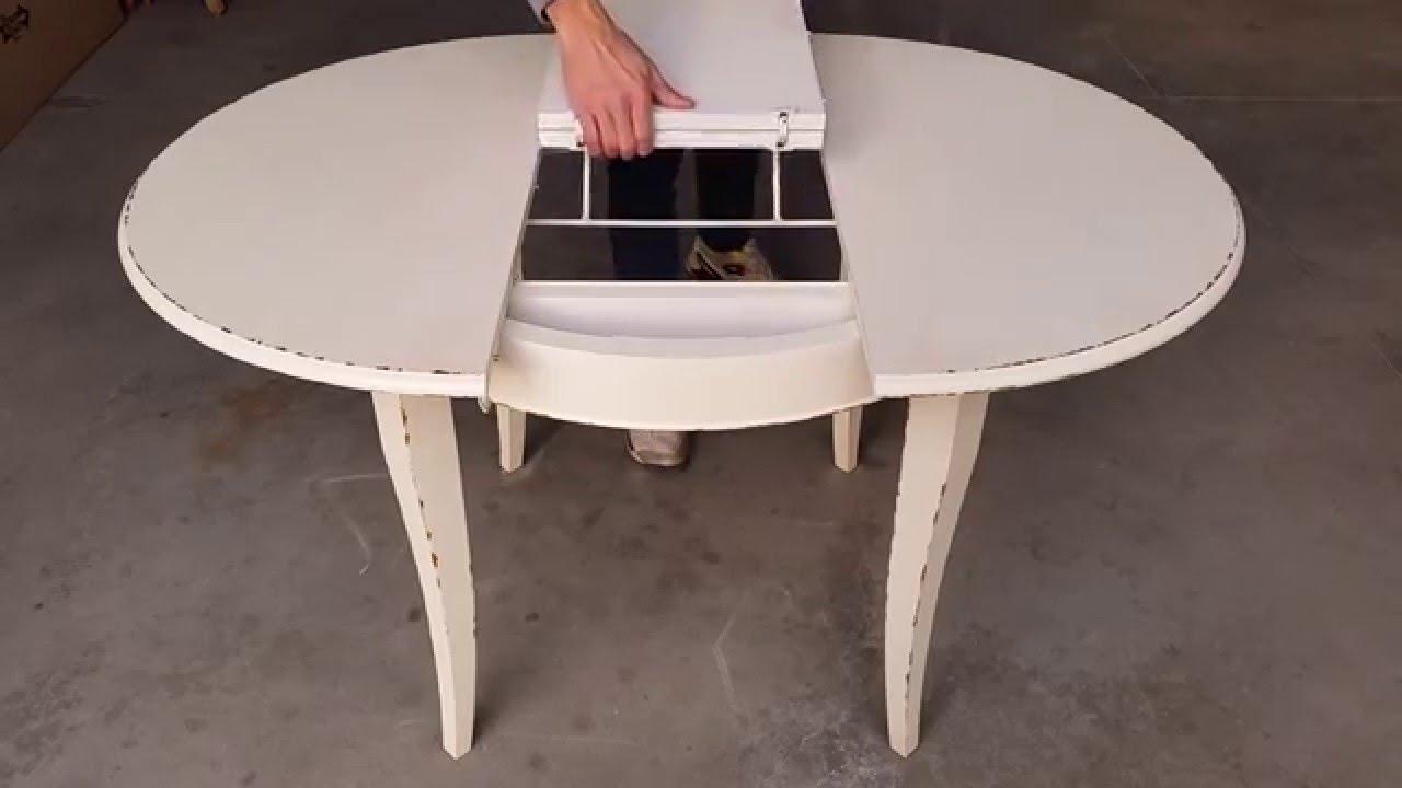 Tavolo rotondo allungabile diametro 100 120 youtube - Tavolo rotondo vetro diametro 120 ...