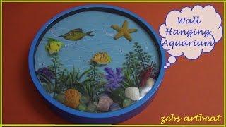 DIY Amazing Wall Hanging Aquarium (recycle old wall clock & toys)