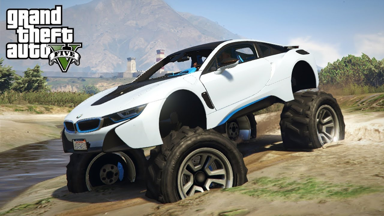 What Happens When You Lift A Bmw I8 Gta 5 Pc Mods Youtube