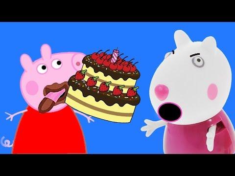 Пеппа не поделилась тортом со Сьюзи | Мульт свинка пепа