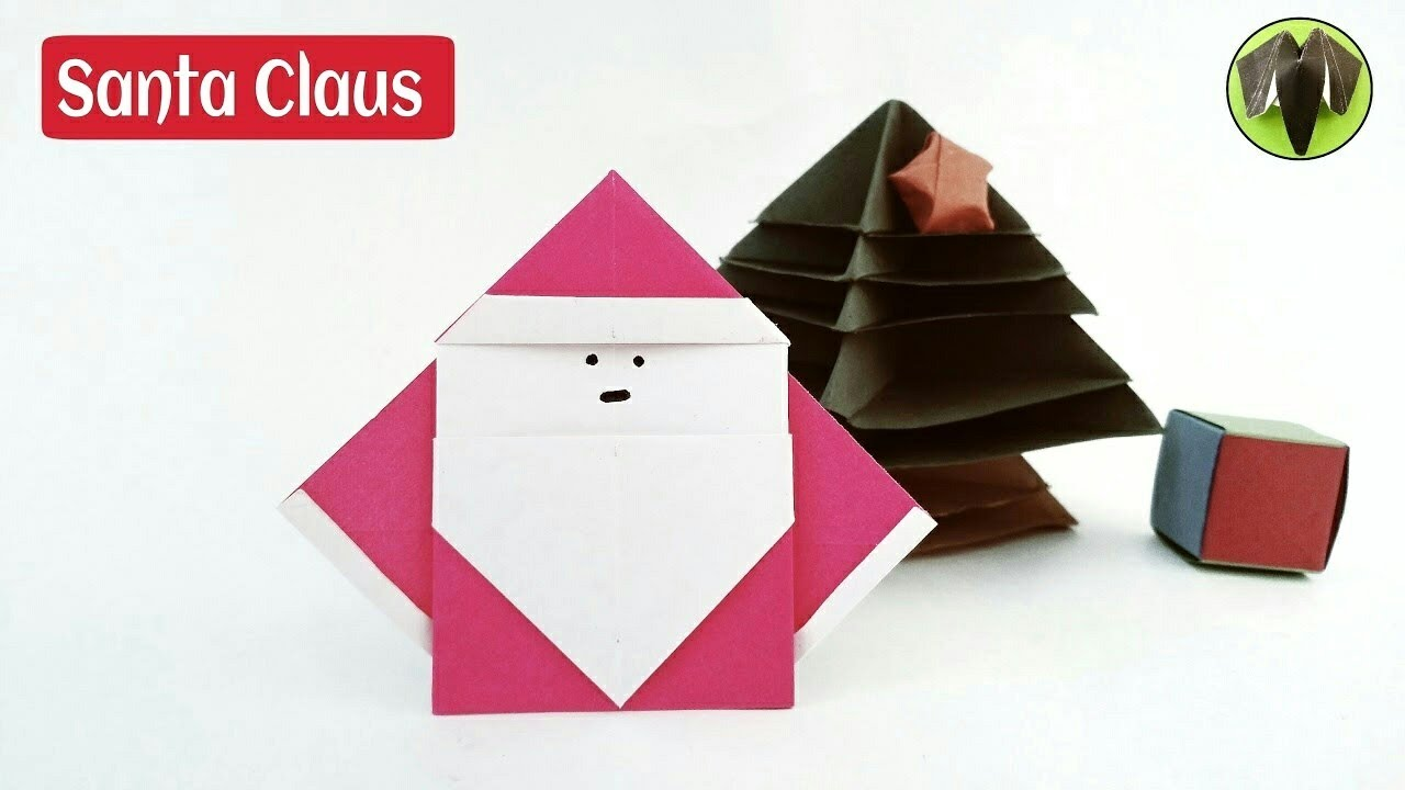The scheme for creating modular origami of Santa Claus from paper for beginners