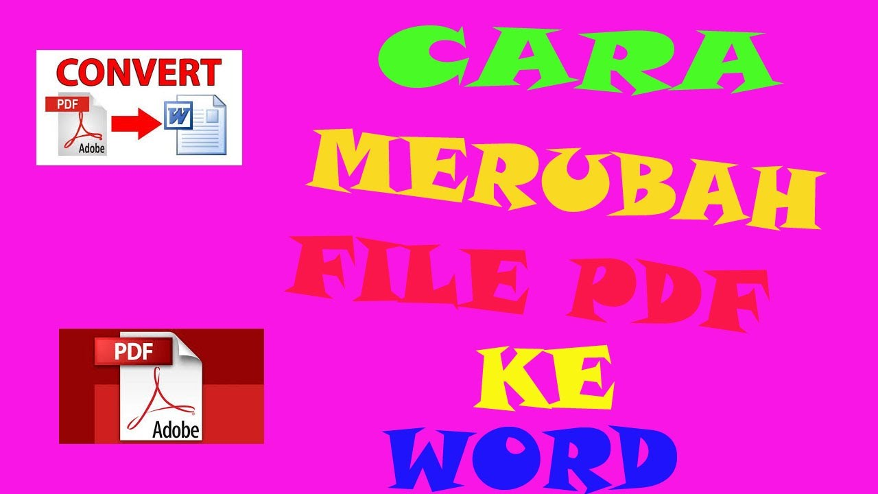 cara merubah file pdf ke word - YouTube