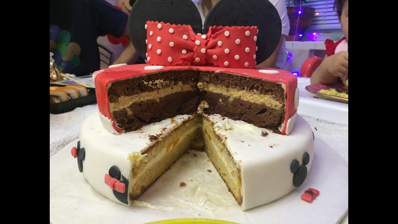 Торт двухъярусный своими руками на день рождения