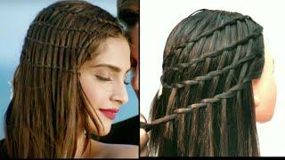Sonam Kapoor Inspired Waterfall Braid Hairstyle || Dheere Dheere Se || Hairstyle || StyleLikeMe ||