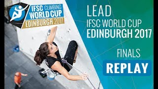 Lead finals of the 5th Lead and Speed #IFSCwc of 2017 in Edinburgh,...