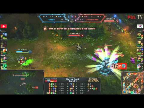 IeSF 2013 World Championship - LoL - Quarter Finals - Korea vs Switzerland - match#1