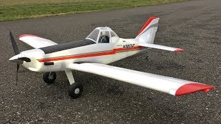 E-flite Brave Night Flyer 1.2M BNF Basic RC Plane With AS3X Technology Maiden Flight
