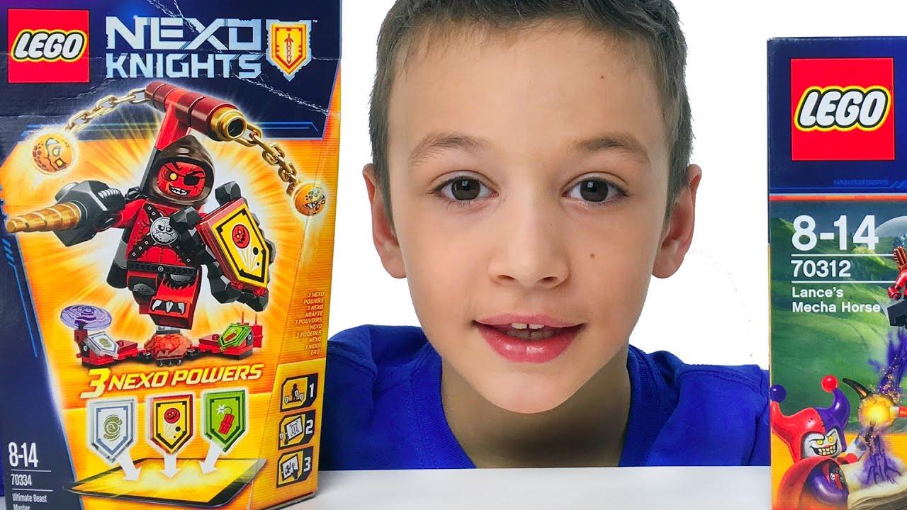 LEGO NEXO Knights Укротитель 70334 Ultimate Beast Master set review Сканируем Щиты Видео для Детей
