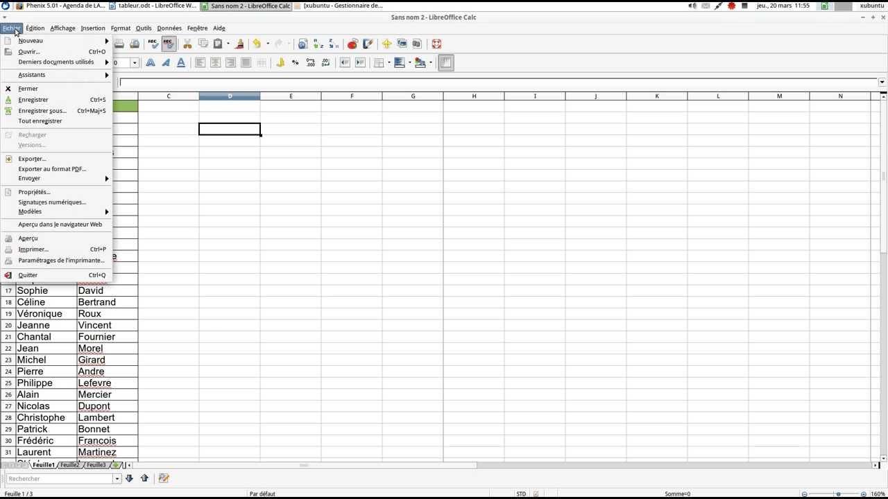 Format De Page Et Impression Sur Libreoffice Calc
