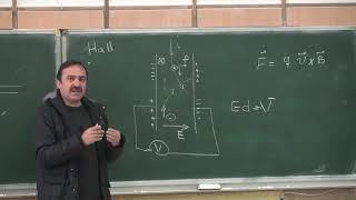 فیزیک ۲ - محمدرضا اجتهادی - دانشگاه صنعتی شریف - جلسه دوازدهم - اثر هال (hall) ، موتور الکتریکی