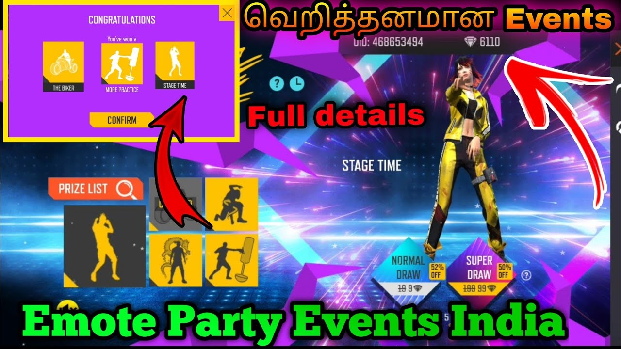 Emote Party Events India Freefire new Emote Party events in Tamil