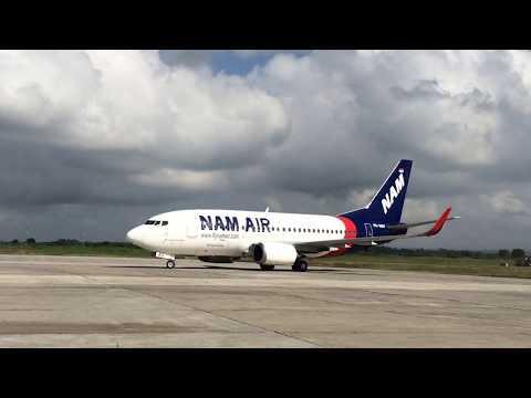 Pendaratan Perdana NAM AIR di Bandara Blimbingsari Banyuwangi