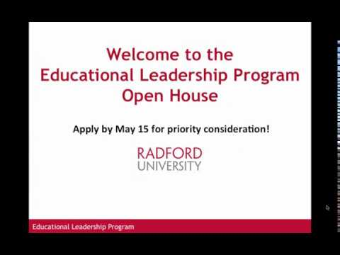 2018 RU Educational Leadership Virtual Open House
