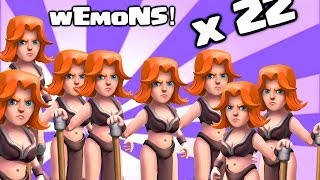 Clash of clans - Valkyrie (i See WeMoNs Valkyrie x22)
