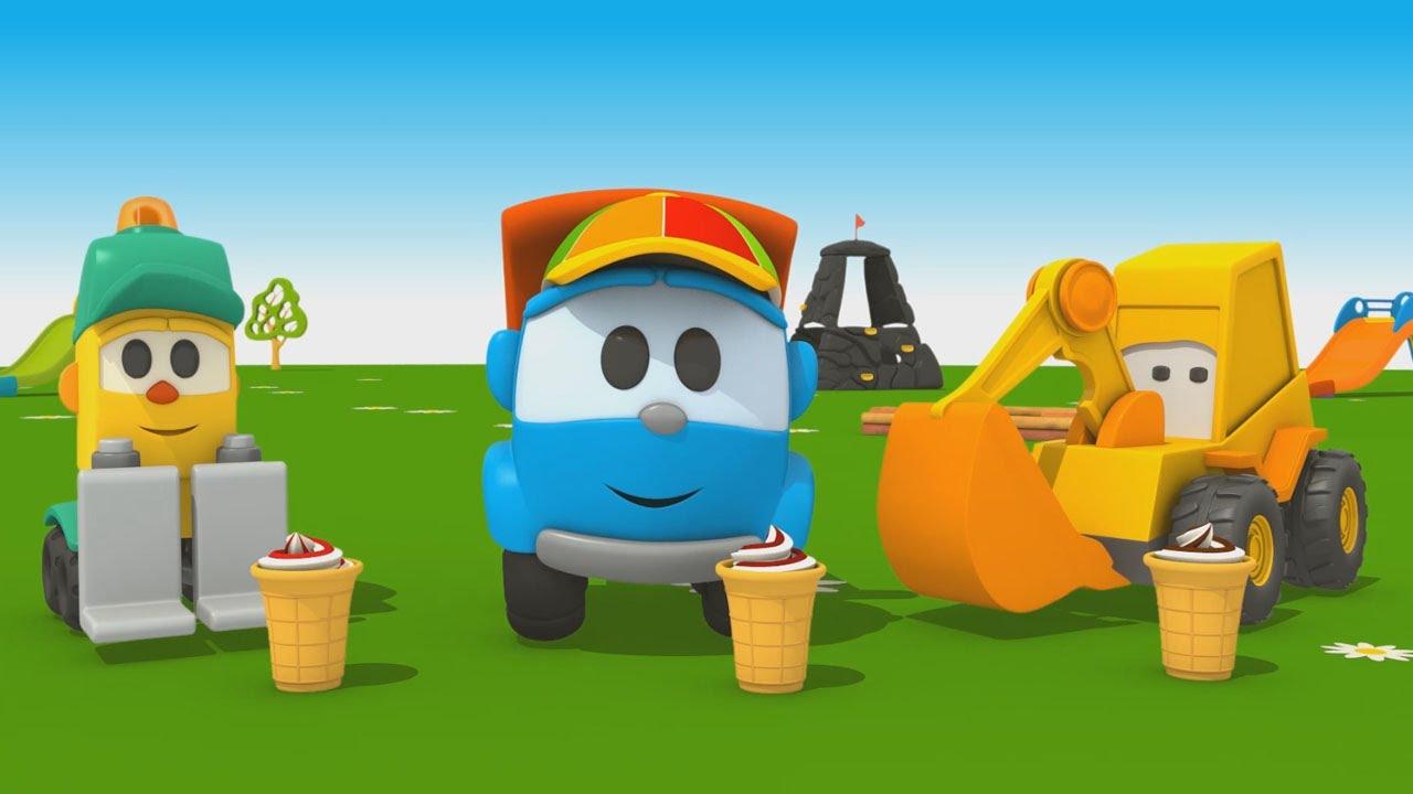 Cartoni animati per bambini camioncino leo jr e la