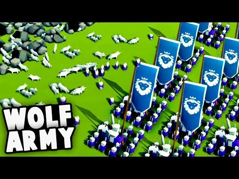 NEW Halloween Update! GIANT Wolf Army vs Knights! (Kingdoms