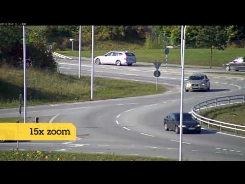 Axis camera reads distant license plate
