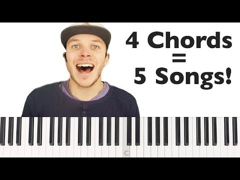 4 Chords to Play 5 Piano Songs in 5 minutes!   STREAM