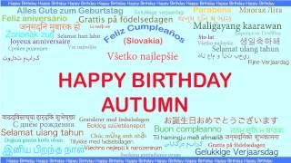 Autumn   Languages Idiomas - Happy Birthday