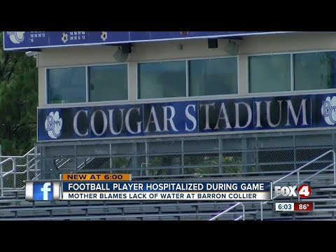 Student hospitalized after football game due to heat