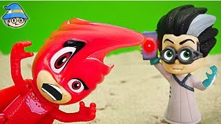 PJ Masks Owlette fall into the trap of Romeo's. PJ Masks rescue episode.