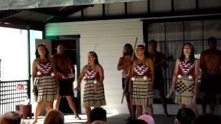 Sing songs w/ dance by Maori people, Rotorua NZ