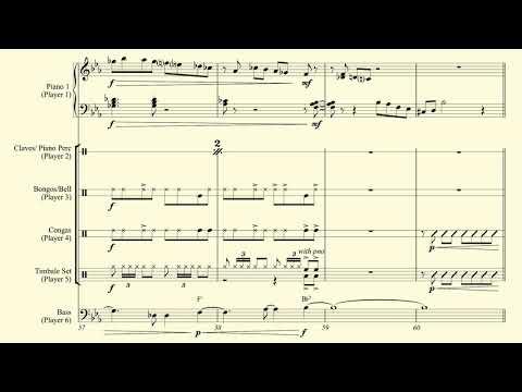 Impromptuno  (Schubert Impromptu, Cuban Version) - Sheet Music Video