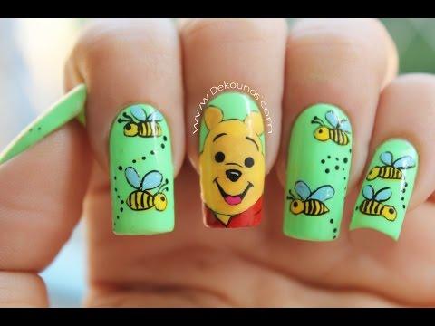 Decoración de uñas winnie the pooh - Winnie the Pooh nails
