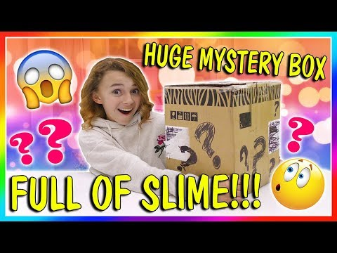 HUGE MYSTERY BOX OF SLIME! | We Are The Davises